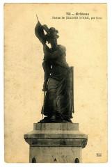Loiret Orléans Statue de Jeanne d'Arc par Gois - Orléans