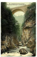 Isère Route de Saint-Laurent-du-Pont à la Grande-Chartreuse Pont St-Bruno - Saint-Laurent-du-Pont