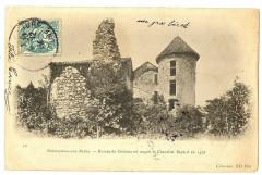 Isère Pontcharra-sur-Bréda Ruines du Château du Chevalier Bayard - Pontcharra