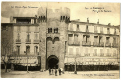 Alpes-de-Haute-Provence Manosque Porte de la Saunerie animé - Manosque