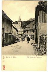 Isère Saint-Pierre-de-Chartreuse La rue de l' Eglise animé - Saint-Pierre-de-Chartreuse