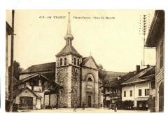 Haute-Savoie Frangy Place du Marché animé - Frangy