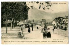 Alpes-Maritimes Sospel La Promenade et Vieux Pont animé - Sospel