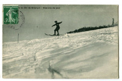 Hautes-Alpes Ecole de ski de Briançon Exercice de saut animé - Briançon