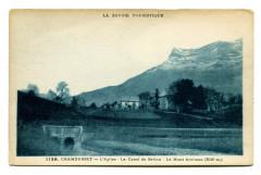 Savoie Chamousset l'Eglise Le Canal du Gellon et Mt Arclusaz - Chamousset