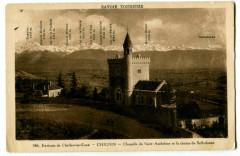 Savoie Chignin Chapelle de St-Anthelme et la Chaîne de Belledonne - Chignin