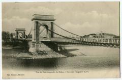 Bouche du Rhône Tarascon Vue du Pont suspendu - Tarascon