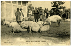 Auvergne 03 Allier Vichy Marché aux Cochons animé - Vichy
