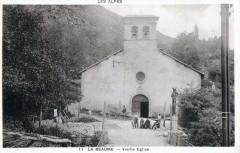 11 La Beaume Vieille Eglise  (CPA Animee - La Beaume