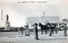 Quiberon Le Casino La Statue De Hoche (cpa animée) - Quiberon