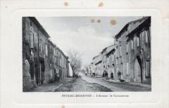 01 Peyriac Minervois L'Avenue De Carcassonne (cpa animée) - Carcassonne