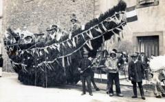 Talairan Carte Photo Du Carnaval De Talairan  Attelage Du Char Fleuri La - Talairan