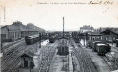 Chaumont La Gare Vue Du Pont Des Flaneurs (PLUSIEURS Trains En Gare - Chaumont