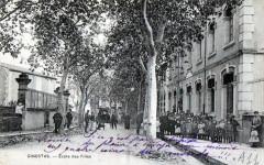 Ginestas Ecole Des Filles (BELLE Cpa Animee - Ginestas