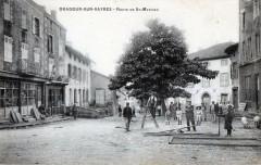 Oradour Sur Vayres Route De Saint Mathieu (cpa animée) - Vayres