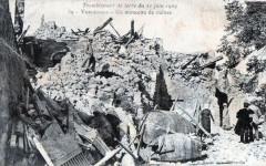 Vernegues Tremblement De Terre 1909 Un Monceau De Ruines (cpa catastrophe - Vernègues