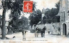 Castillonnes Quartier De La Porte Des Valets (cpa animée - Castillonnès