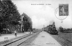 Malay Le Grand La Gare (Train En Gare 89 Malay-le-Grand
