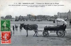 Berck Plage Voiture De  Malade Sur La Plage   (Joli Attelage) - Berck