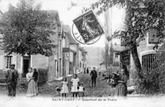 Saint Chef Quartier De La Poste   (cpa animée) - Saint-Chef