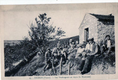 Chablis Les Vendangeurs Au Repos La Moutonne (Rare Cpa - Chablis