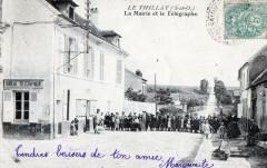 Le Thillay La Mairie Et Le Telegraphe  (Animation - Le Thillay