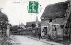 Frouville Une Chaumiere  (cpa animée) - Frouville