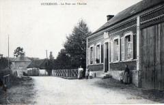 Outrebois Le Pont Sur L'Authie (cpa animée) - Outrebois