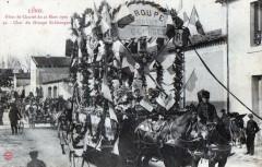 Lunel Fetes De Charite Du 21 Mars 1909 Char Du Groupe St Georges (Superbe - Lunel