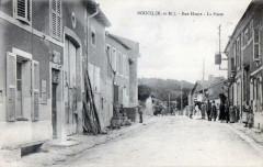 Boucq Rue Haute La Poste (cpa animée - Boucq