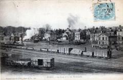 Flers La Gare Et La Rue Nationale (Trains - Flers