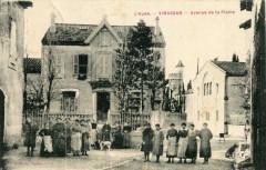 Vinassan Avenue De La Plaine (cpa animée - Vinassan