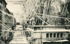 Narbonne Le Cyclone De 1920 Rue Du Tribunal - Narbonne