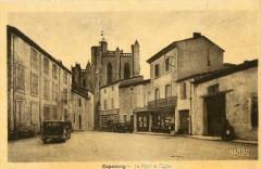 Capestang La Place Et L'Eglise - Capestang