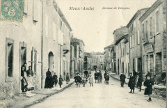 Moux Avenue De Douzens (cpa animée - Moux