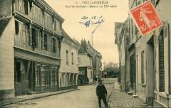Ivry La Bataille Rue De Garenne (cpa animée) - Ivry-la-Bataille