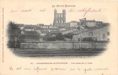 Villefranche De Lauragais Vue Prise De La Gare (dos non divisé) - Villefranche-de-Lauragais