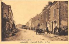 Saint Marcel Route De Saint Gaultier La Poste (animée - Saint-Gaultier