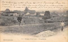 Maligny 1902 Vue Generale (dos non divisé) Scan Recto Verso (pas courante - Maligny