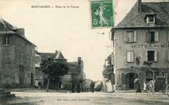 Montbazens Place De La Pompe (cpa animée) - Montbazens