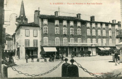 Saint Girons Place Du Pladelon Et Rue Galy Cazalat (cpa animée) - Saint-Girons