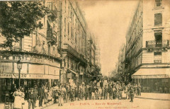 Paris XIe Rue De Montreuil (cpa animée) Superbe Animation - Paris 11e
