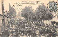 Jussey 17 Septembre 1905 Defile La Musique Du 109e D'Infanterie Et Les Au - Jussey