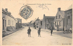 Pommereuil Rue Du Cateau  ( Cpa Animee - Pommereuil