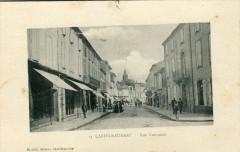 Castelnaudary Rue Nationale (cpa animée) - Castelnaudary