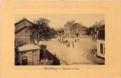 Bourbourg Place De La Gare (cpa glacée pas courante - Bourbourg