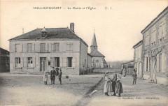 Hallignicourt La Mairie Et L'Eglise  (animée - Hallignicourt