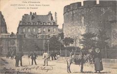 Saint Malo PorteSaint-Vincent Laitiere De Parame (dos non divisé)  (animée - Saint-Malo