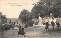 Concoret Place De L'Eglise Arrivee A La Grand Messe - Concoret