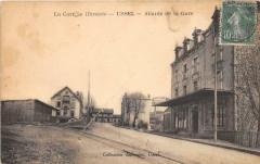Ussel Abords De La Gare (cpa rare - Ussel